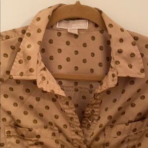 Micheal Kors collared blouse button up
